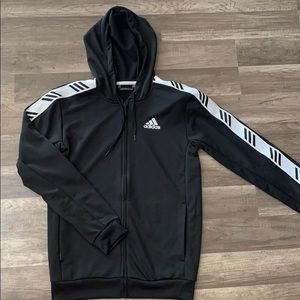 Adidas Basketball Club- Black Jacket- Size Small